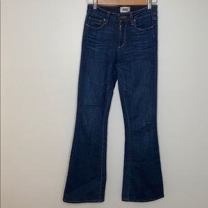 PAIGE high rise bell canyon flare denim jeans 25